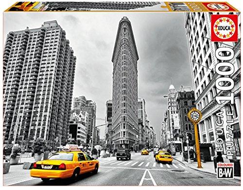 Educa Borrás - 1000 Flatiron Building, New York Colored Black & White, Puzzle (17111)