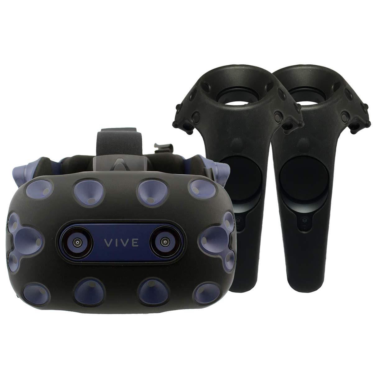 [3 en 1] Housse de Protection en Silicone – Coque Casque et manettes – HTC Vive Pro