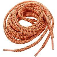 Cordones de zapato - TOOGOO(R) Cordones de cuerda redonda 3M reflectante de zapatos de carrera (estilo-A naranja)