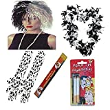 1920er Cruella de Ville 101 Dalmatiner 5-teiliges Set Prop Evil Lady Fancy Dress Zubehör (Mega _ Jumble)