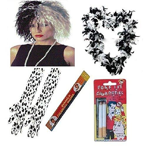 1920er Cruella de Ville 101Dalmatiner 5-teiliges Set Prop Evil Lady Fancy Dress Zubehör (Mega _ Jumble)