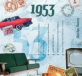 1953 Geburtstag Geschenken - 1953 Chart Hits CD und 1953 Geburtstagskarte