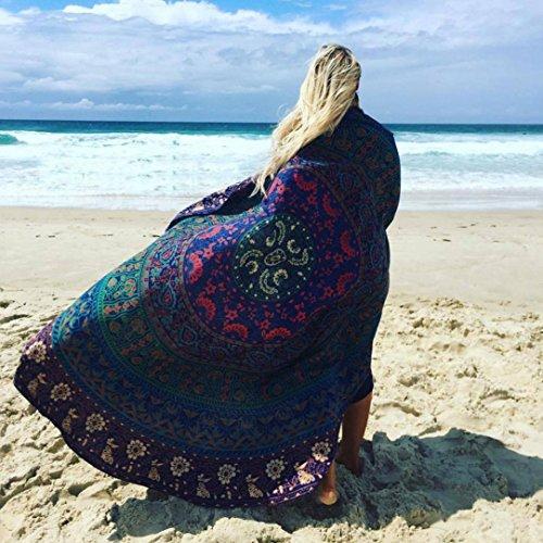 HCFKJ 2017 Mode Runde Schwimmbad Haus Dusche Handtuch Decken Tisch Tuch Yoga Matte