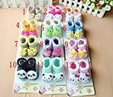 Sajani Unisex Baby Cotton Cartoon Faced Soft Socks (Multicolour, 0-6 Months)