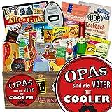 Opas sind wie Väter nur cooler | 24x Allerlei | Geschenkkorb | Opas sind wie Väter nur cooler | DDR Box | Geburtstagsgeschenk für Opa | mit Viba, Pfeffi, Liebesperlen und mehr