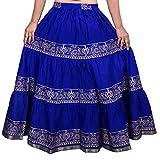 Decot Paradise Women's A-Line Skirt (DL3121_Blue_Free Size)