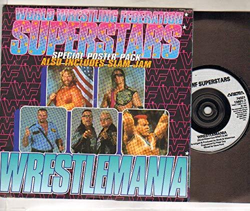 WWF SUPERSTARS - WRESTLEMANIA - 7 inch vinyl / 45 (Rca-tv 7)