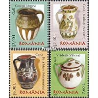 Romania 6277-6280 (completa.Problema.) 2008 Rumeno Ceramica (Francobolli )