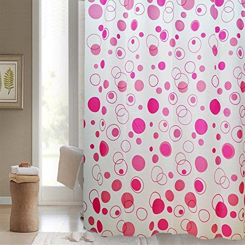 Duschvorhang 'COMASINA PINK' 180x200 cm incl. Ringe Modern & Trendig Vorhang