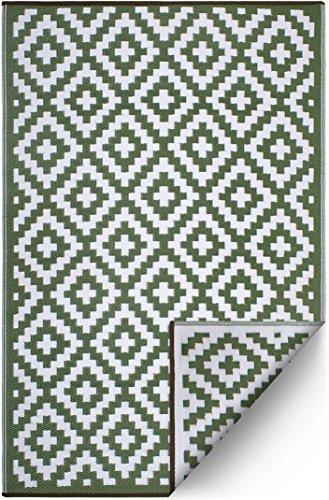 FH Home Alfombra/Alfombra de plástico Reciclado para Interiores/Exteriores - Reversible - Resistente...