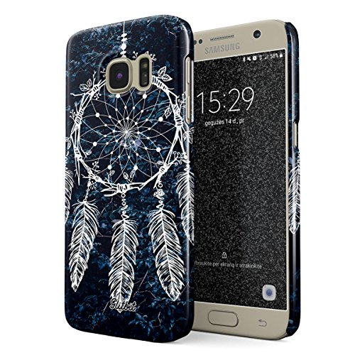 Glitbit Hülle Kompatibel mit Samsung Galaxy S7 Dreamcatcher Native Nature Dream Catcher Tumblr Boho Indie Bohemian Boheme Traumfänger Dünn Robuste Rückschale aus Kunststoff Handyhülle Case Cover