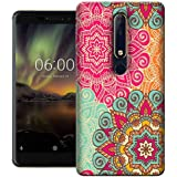 Digiprints Hard PC Beautiful Ethnic Color Pattern Printed Designer Back Case Cover for Nokia 6.1(2018)