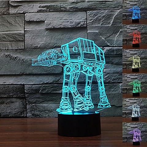 LeaningTech 3D Schädel-Form Lichteffekt,Schädel LED-Schreibtischlampe Nachtlicht, Illuminated Lichter,USB 7 Farben Leuchten,3D-Visualisierung,für Halloween Weihnachten Party, Warmweiß Beleuchtung Home Decor-kreative Geschenk
