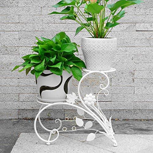 Bao xing bei firm terrazzo piantana da terra/vaso da fiori per interni ed esterni/fioriera ragno in ferro battuto bouquet di fiori verdi (color : bianca)