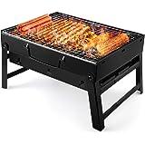 UTTORA Grillgrill, bärbar hopfällbar kolgrill skrivbord bord utomhus rostfritt stål rökare grill för picknick trädgård terras