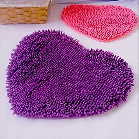 New day-Tappeto camera da letto di Peach cuore tappeto fatto a mano coperta , lilac colored , 40*50