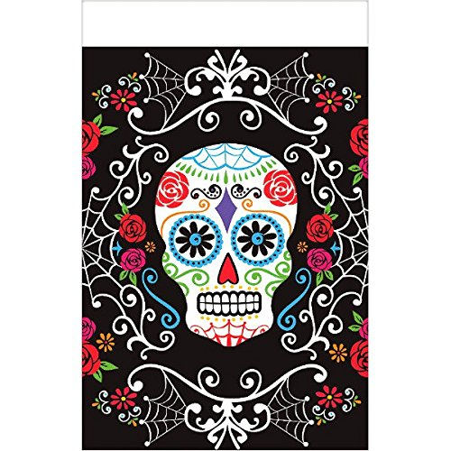 Amscan International 571519 Day Of The Dead Kunststoff Tisch, 1,4 x 2,6 m