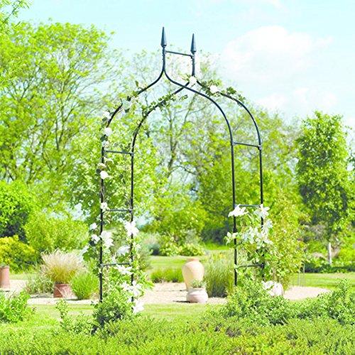 floristikvergleich.de Gardman Deluxe Gartentor im gotischen Stil, 2,95 x 1,4 m, schwarz