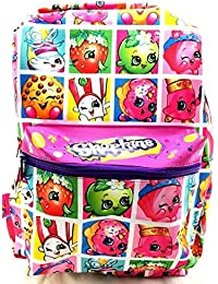 "Shopkins Jans Style Girls 16"" Canvas Multi-color School Backpack"