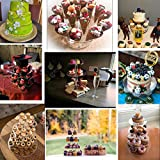 SZFLWA Cupcake Ständer, Kuchenständer 3-Stufig Acryl Halten sie Cupcakes Desserts für Nachmittagstee Party Baby Duschen Hochzeiten (Runde) - 6