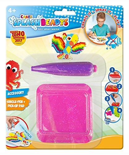 CRAZE 15957 pink Splash Beadys Single Pen mit Board, rosa Pink Mit Einem Splash