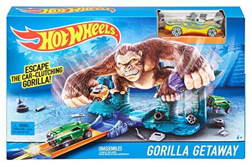 Mattel UK Ltd Hot Wheels Track Set - Jump amp; Score - Gorilla Getaway Playset