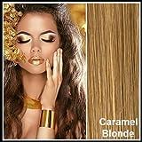 Athenia Luxus- Futura Clip in Extensions Haarverlängerungen - 55 cm - XXL vollen Kopf ** 150 Gramm** hochwertigen futura Haar - Farbe Karamell Blond