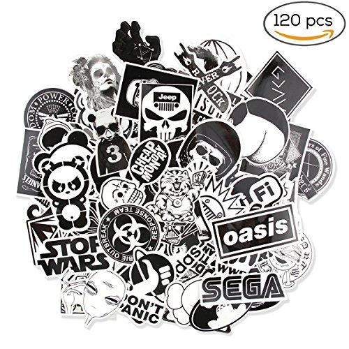 120 Stücke Aufkleber Vinyl für Laptop Auto Motorrad Fahrrad Gepäck Graffiti Patch Skateboard Wand Decor
