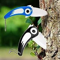 easyshop Uccello creativo di tasca della lama di sbucciatura di