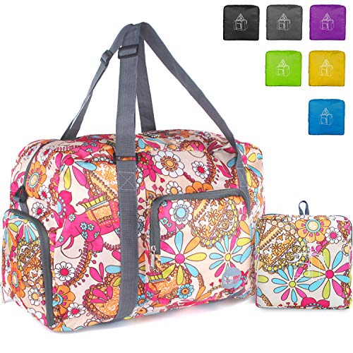 9efd6974b9b9 WANDF Foldable Travel Duffel Bag Super Lightweight for Luggage