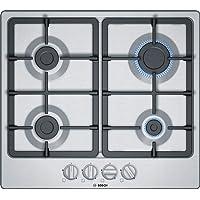 Bosch Electroménager PGP6B5B90 Plaque gaz - Plaque de cuisson 4 foyers [Classe énergétique D] 6 L58,2cm x P52cm - Acier…