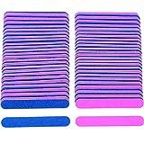 100Stück Einweg Nail Dateien doppelseitig Emery Boards Maniküre Werkzeuge, blau und rosa