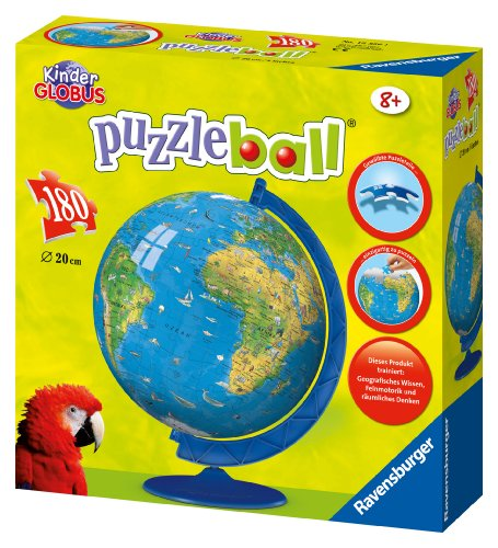 Imagen 2 de Ravensburger 12326 Mapamundi XXL puzzleball® - Puzzle esférico (180 piezas)