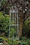 KUHEIGA Rankgerüst Verzinkt Obelisk Rosenhilfe H: 120cm Rankhilfe