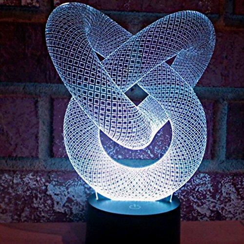 alisable Optische Illusion 3D Würfel Beleuchtung, 3D Glow LED Lampe–Erzeugt Einzigartige Lichteffekte und 3D Visualisierung–Amazing Optische Illusion
