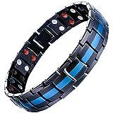 Jfume, braccialetto magnetico da uomo in acciaio inox con strumento di rimozione delle maglie regolabile da 21,6 cm