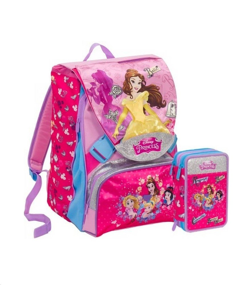 Mochila Seven Princess/Princesas MagICAL DREAM DISNEY SCHOOLPACK SEVEN PRINCESS 2018/19 + Estuche R Gadget de regalo