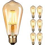 Edison gloeilamp, Dobee Edison Vintage LED-lamp E27 (4W/220V) 2600-2700K Retro gloeilamp vintage antieke gloeilamp, amber war