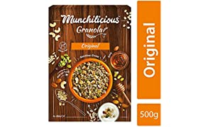 Munchilicious Healthy & Nutritious Nuts and Seeds Granola Cereal for Breakfast - Original- 500 gm