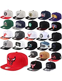 Mitchell & Ness Casquette Snapback Chicago Bulls, Valentine Nets ,Los Angeles Kings, Miami Heat, Warriors UVM