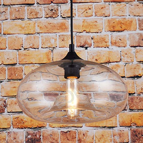 Suspension lumineuse en verre style vintage Transparent