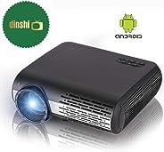 Dinshi Maxx+ Android 6.0/ WiFi 4200 Lumens Full HD LED Projector 1080P Support HDMI USB VGA AV