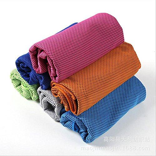 HXQ Raffreddamento asciugamano Fashion ghiaccio istantaneo di estate sport e soffici asciugamani con sensazione di freddo tessuti per esercizi Fitness Running... 5pcs , Random color , 100*30cm