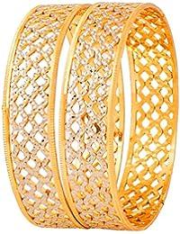 Quail Alloy Traditional Ethnic 1 Gram Gold Plated Designer Kada/ Bangles For Women Wedding / Jewellery For Women