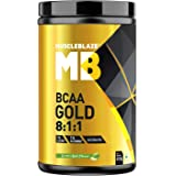 MuscleBlaze BCAA Gold 8:1:1(Green Apple) Recovery and Endurance BCAA Powder, Pre/Post/Intra Workout Supplement (450g, 30 Servings)