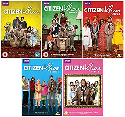 BBC award winning sitcom - Citizen Khan 1-5 : Complete Series 1 2 3 4 5 DVD Collection + Christmas Special + Extras: Outtakes