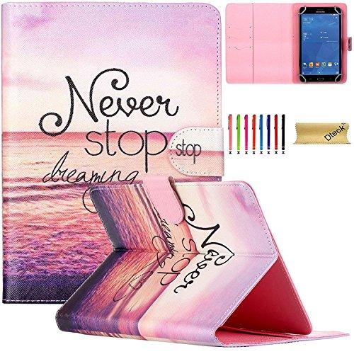 Universal 7.0 Zoll Hülle, Dteck(TM) Einzigartiges Design Kartenschlitz PU Leder Brieftasche Schutzhülle Magnetisch Etui für Alle Tab Andriod Tablet PC/ Apad Mid Netbook/ Galaxy Tab 2 Tab 3 & Tab 4 / HDX / eBook Reader / Nexus & Nexus FHD / Dell Streak / Tesco Hudl / Allwinner / GoTab -Executive Fine Qualität Hülle für 7