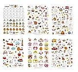 Freessom 6 Fiches Autocollant Stickers Adhésif Transparent Motif Kawaii Lapin Chat Animaux Cartoon Dessins Décoration Calendrier Album Scrapbooking Journal Intime Agenda Artisanat DIY Cadeau