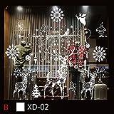 Weihnachten Fensterbilder Wandsticker, Abnehmbare Winter Statisch Haftende PVC Aufklebe Wandtattoo DIY Weihnachtsdeko Fensterdeko Wanddeko für Türen,Schaufenster, Vitrinen,Glasfronten
