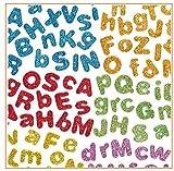 Libetui Sticker Set 850 Glitzernde Buchstaben Schaumsticker Aufkleber Selbstklebend Deko-Set Zum Selbst Gestalten Kreative Beschäftigung Bunte Farben